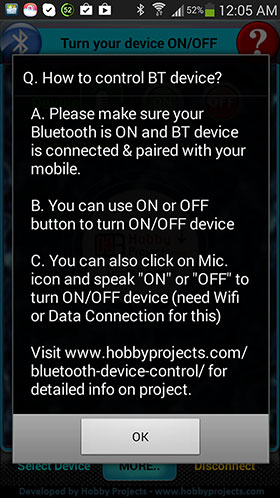 Android Bluetooth Remote Controlled Relay Project using 8051/89c2051